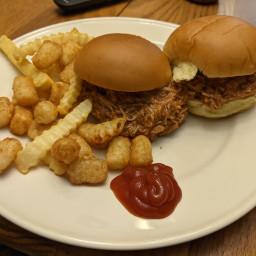 Instant Pot Honey BBQ Chicken Sandwiches
