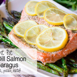 Instant Pot Lemon-Dill Salmon & Asparagus (grain-free, paleo, keto)