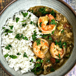 Instant Pot Louisiana Seafood, Chicken, and Sausage Gumbo