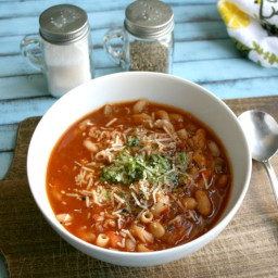 Instant Pot Minestrone Soup {Gluten Free, Real Food}