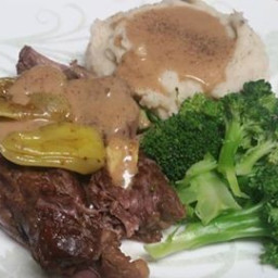 Instant Pot Mississippi Pot Roast and Gravy