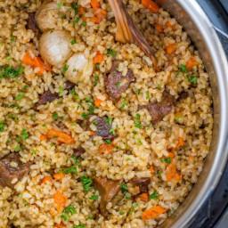 Instant Pot Rice (Beef Plov)