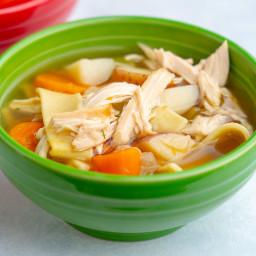 Instant Pot Rotisserie Chicken Noodle Soup
