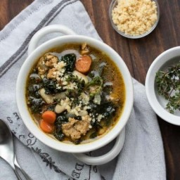 Instant Pot Smoky Kale and White Bean Soup