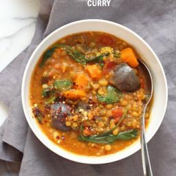 Instant Pot Sweet Potato Lentil Curry