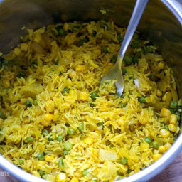 Instant Pot Yellow Rice With Peas and Corn