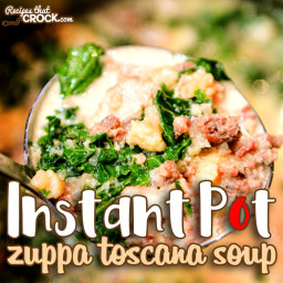 Instant Pot Zuppa Toscana Soup Recipe (with optional Low Carb substitutions