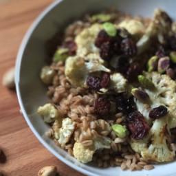 Instant Pot® Warm Vegetarian Farro Salad with Cauliflower, Pistachios