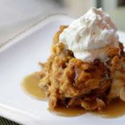 Irish Bread Pudding w/ Carmel-Whiskey Sauce (1+)