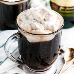 Irish Coffee with Baileys Whipped Cream