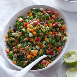 Israeli Couscous and Kale Salad