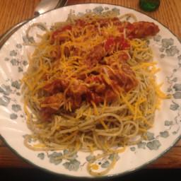 Italian barbecue chicken spaghetti