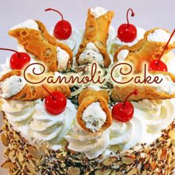 Italian Cannoli Cream Cake