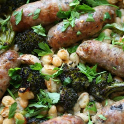 Italian 'Cassoulet' with Sausage and Beans Recipe