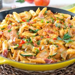 Italian Chicken and Prosciutto Pasta Skillet