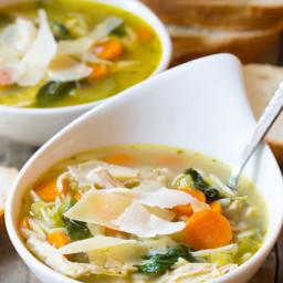 Italian Chicken Orzo Soup