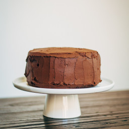 Italian Chocolate Olive Oil Cake w/ Chocolate Hazelnut Buttercream