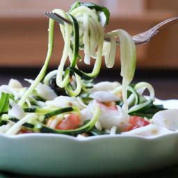 Italian Crab and Zucchini Pasta Salad