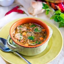 Italian Lentil Soup with Sausage