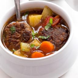 Italian Meatball and Potato Soup