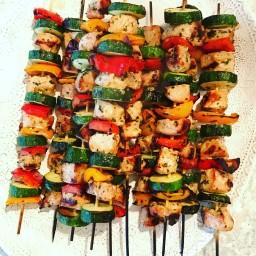 Italian Pork Kabobs with Summer Vegetables