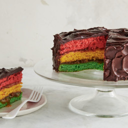 Italian Rainbow Cookie Cake