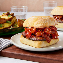 Italian Sausage & Pepper Sandwiches with Roasted Prince of Orange Potat