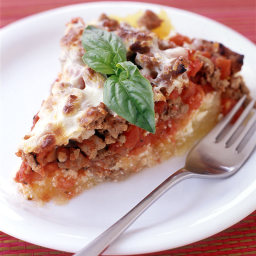 Italian Turkey and Spaghetti Squash Pie