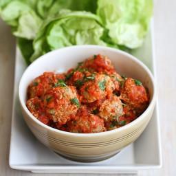Italian Turkey, Quinoa & Zucchini Meatballs Recipe in Lettuce Wraps