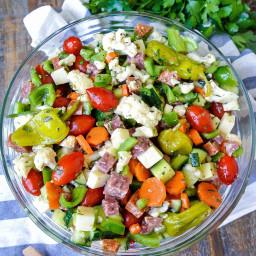 italian vegetable + antipasto salad
