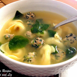 Italian Wedding Soup with Spinach Meatballs