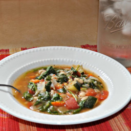 Italian White Bean and Spinach Soup (THM: E, low-fat, gluten-free)