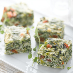 Italian Cheese & Spinach Frittata Squares