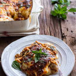 Italian Quinoa Risotto Lasagna Casserole w/Truffle Oil.
