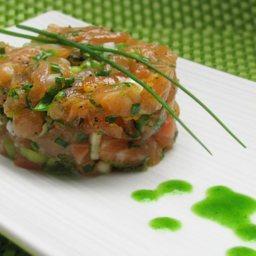 jade buddha salmon tartare