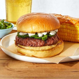 Jalapeño & Goat Cheese Beyond Burgers™ with Corn on the Cob