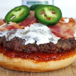 Jalapeno Burger & Cream Cheese Recipe