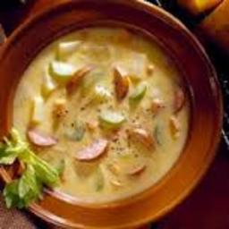 Jalapeno & Cheddar Soup with Chorizo