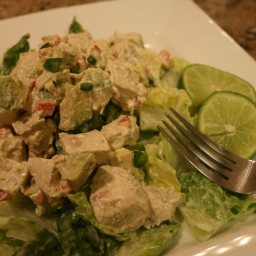 Jalapeno Chicken Salad with Avocado Dressing