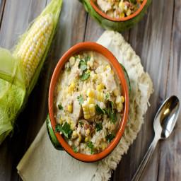 Jalapeno, Chicken & Sweet Corn Soup