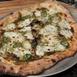 Jalapeno Pecan Pesto Pizza