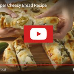 Jalapeno Popper Cheesy Garlic Bread Recipe Card