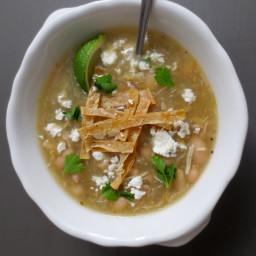 Jalapeño Salsa Verde Soup (Slow Cooker Version)