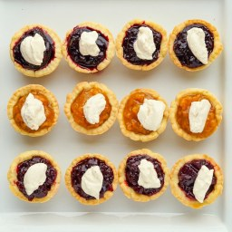 Jam Tarts. Newfoundland berry tarts topped with a dollop of thick cream!