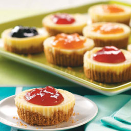 Jam-Topped Mini Cheesecakes Recipe