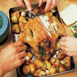 Jamie Oliver Roast Rosemary Chicken with Roast Potatoes