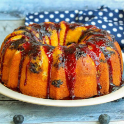 Jamie's Blueberry Bundt Cake With Sauce