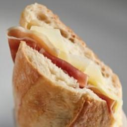 Jamón Serrano and Manchego Cheese Sandwich Recipe - Receta de Bocadillo de