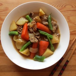 Japanese Beef and Potato Stew