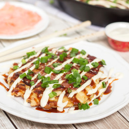 Japanese Cabbage Pancake - Okonomiyaki